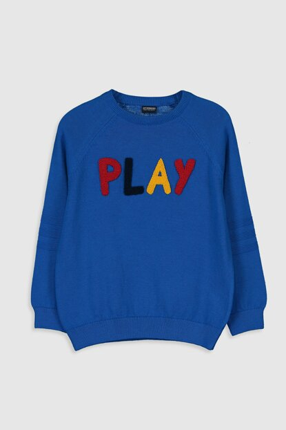 Boys' MIDDLE BLUE JUF Sweater 9WJ419Z4