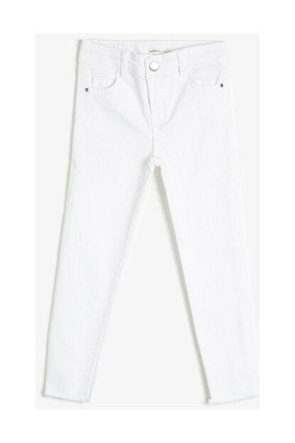 White Kids Trousers 0YKG47392OW