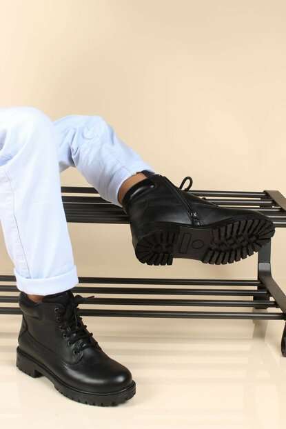 Genuine Leather Black Boy Boots 1875714