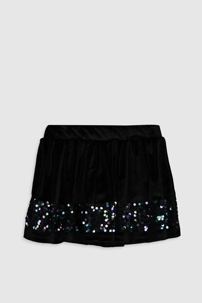 Girls' New Black Cvl Skirt 9WG416Z4
