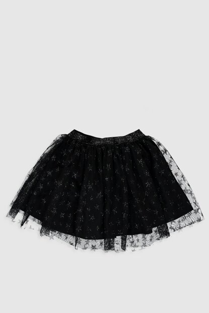 Girl's Black Printed Skirt 0S5042Z4