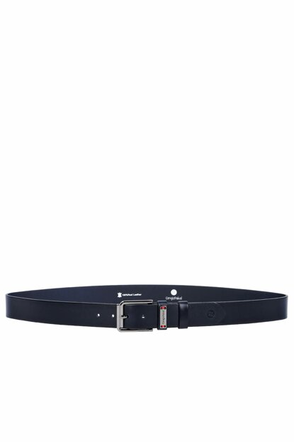 Genuine Leather Navy Blue Men Belt 48000B