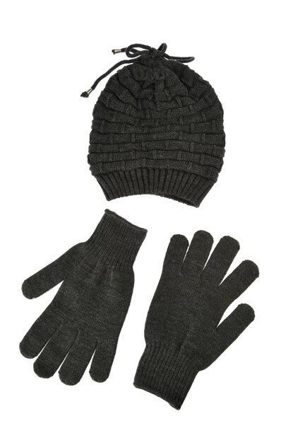 Anthracite Men Beret Gloves Team Beret TMNAW20BR0032