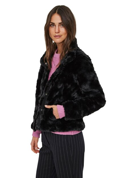 Standup Collar Short Faux Fur 10194645 VMCURL