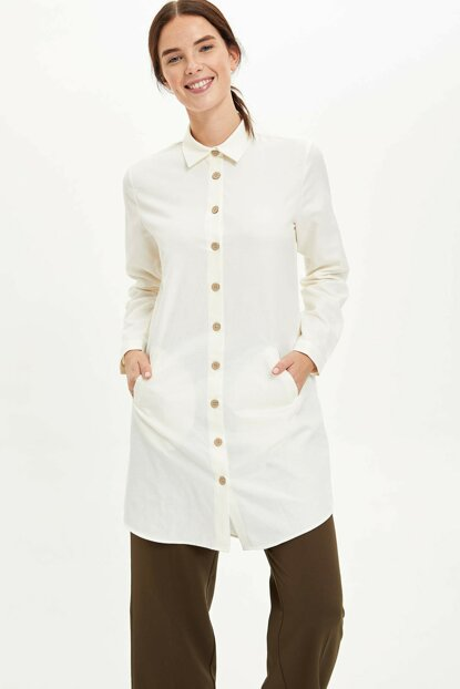 Women's Ecru Long Shirt
