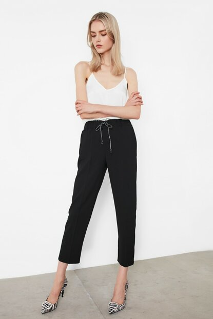 Women Black Trousers IW6190003255001