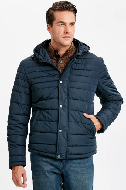 Men's Navy Blue Coat 8W0010Z8