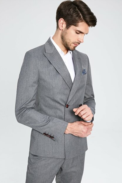 Men's Gray Jacket 9WM235Z8