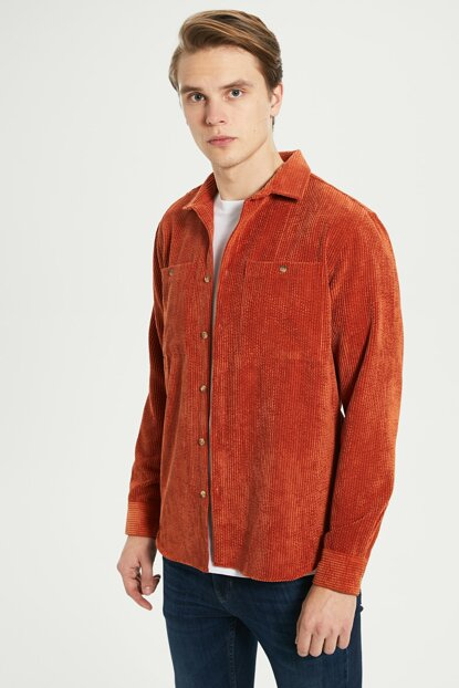 Men's Burn Orange Shirt 9WA751Z8