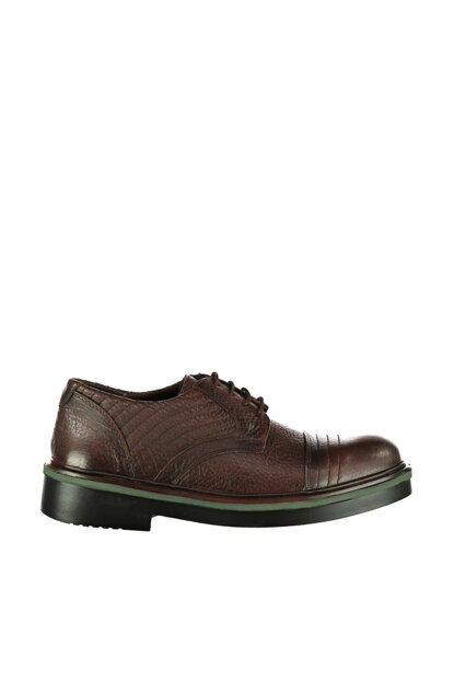 Genuine Leather Coffee Men Shoes 17WFD3256FT