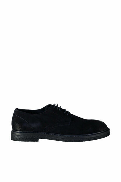 Genuine Leather Suede Navy Blue Men Classic Shoes 120130007414