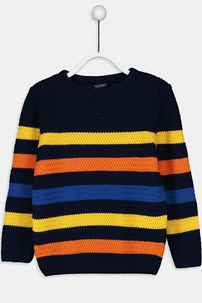 Boy Orange Striped Lgz Sweater 9WG318Z4