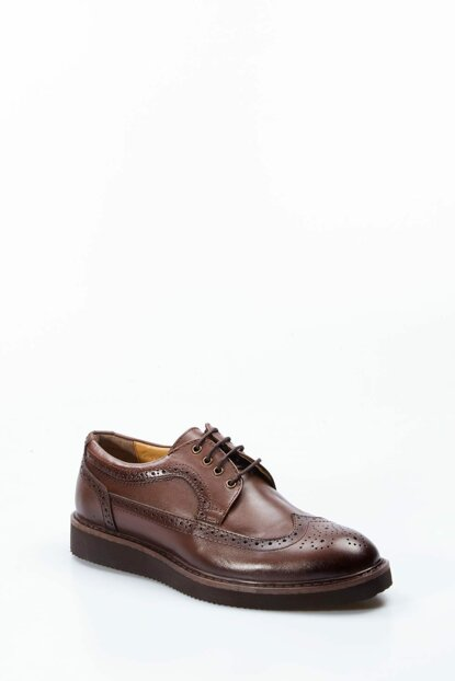 Genuine Leather Coffee Men Classic Shoes 1848985