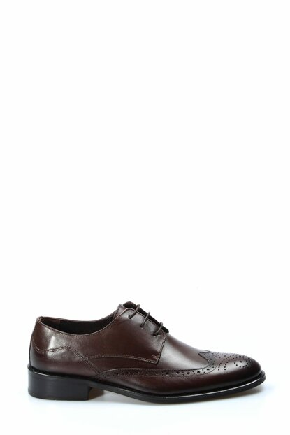 Genuine Leather Coffee Men Classic Shoes 1850186