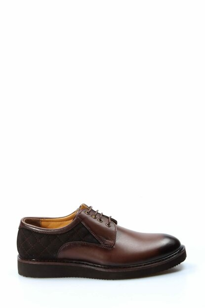 Genuine Leather Coffee Men Classic Shoes 1848956