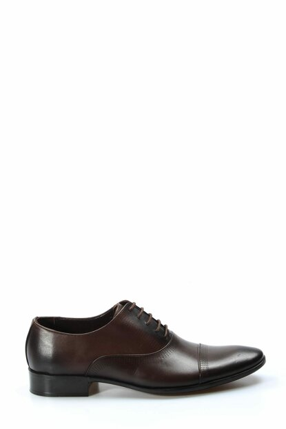 Genuine Leather Coffee Men Classic Shoes 1849844