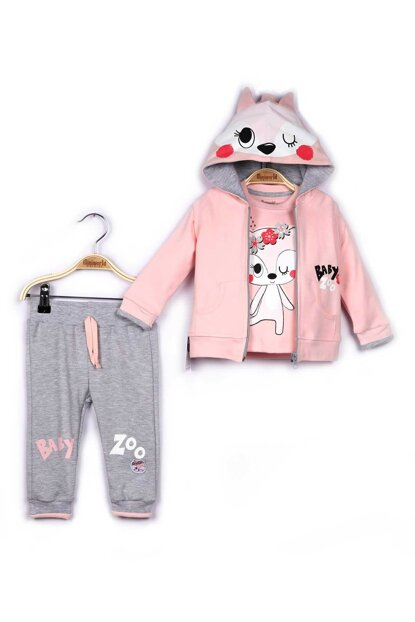 Miniworld Baby Girl Cardigan Sweatshirt Pants 3-Piece Suit 9-24 Months 14795 MINI14795