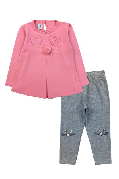 RABBIT DETAIL TSHIRT AND PANTS SET-19817 F0857