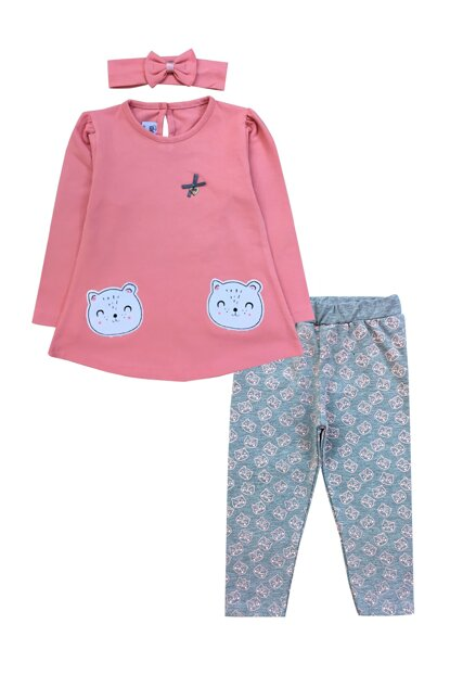 KITTY DETAIL TSHIRT, TROUSERS AND BANDAN SUIT-19813 F0854