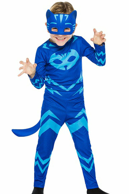 Pj Mask - PjiaMaskels Cat Child Costume 7-9 Years Old 8681483653413
