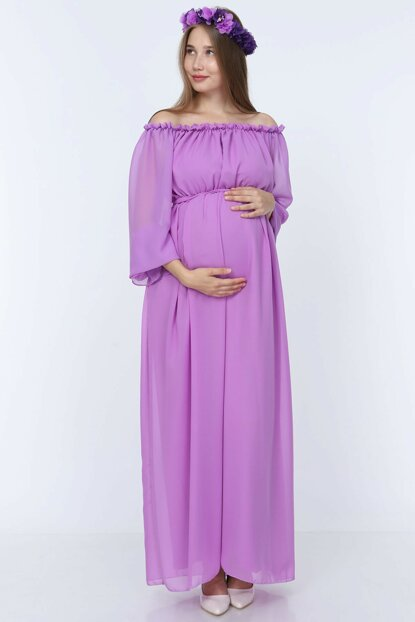 Maternity Dress Lilac ML010200X