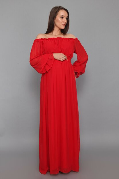 Maternity Dress Red ML010200X