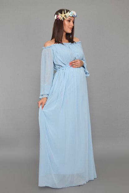 Maternity Dress Bebe Blue ML010200X