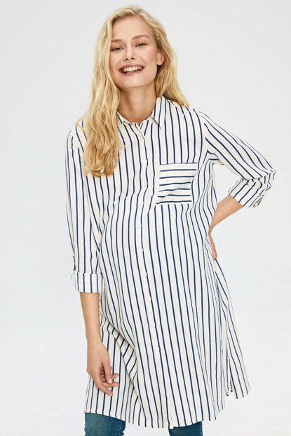 Women's Blue Striped Len Tunic 9WP769Z8