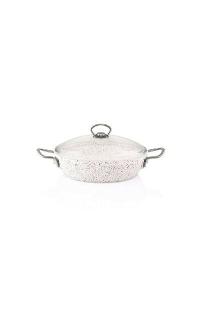 Granite Cast 28 cm Flattened Cookware White TAC-3424