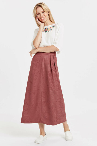 Women's Pink Skirt 8Wh731Z8 8WH731Z8