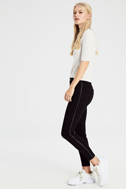 Women Black Rodeo Pants 9WO155Z8