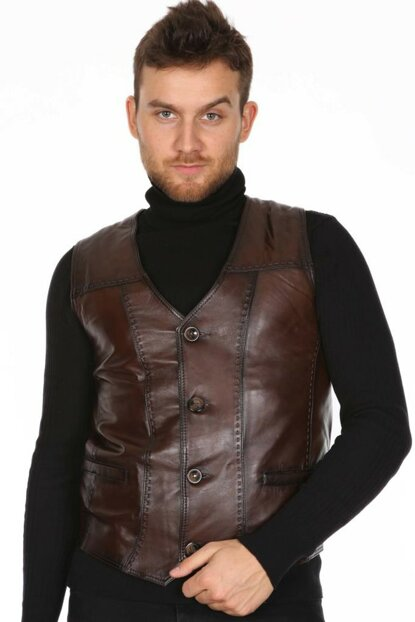 Men's Dark Brown Coat E-184