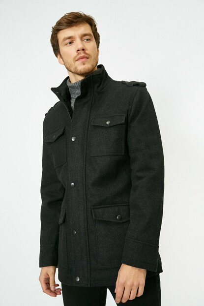 Men's Gray Coat 0KAM04022OW
