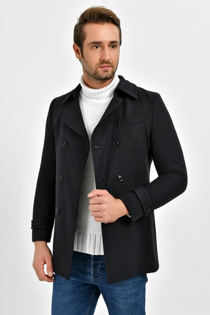 Men's Navy Blue Coat 9430