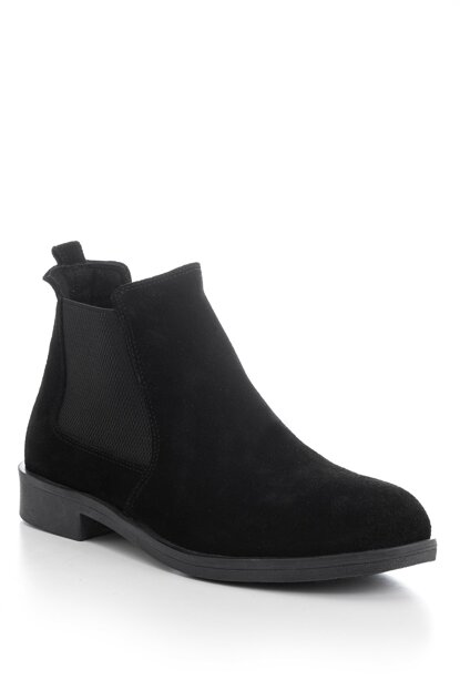 Genuine Leather Black Men Boots TBDR-1