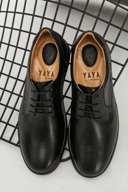 Genuine Leather Black Men Classic Shoes 02AYY162740A100