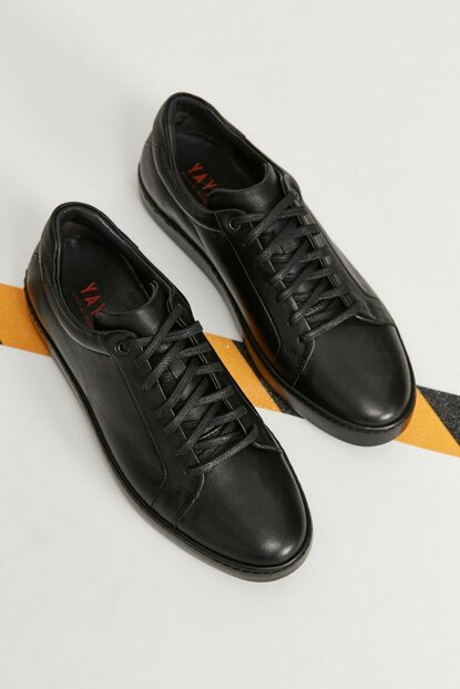 Genuine Leather Black Men Classic Shoes 02AYY163230A100