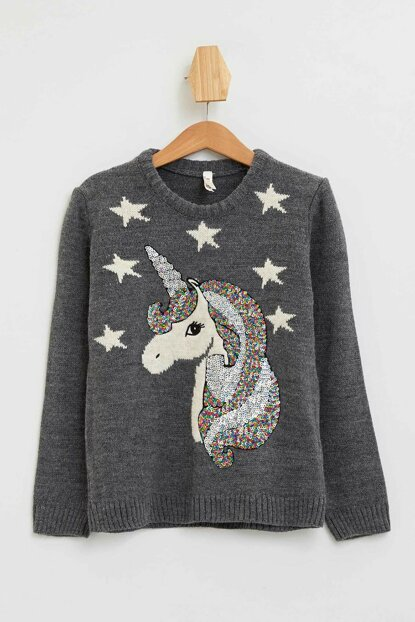 Unicorn Printed Sweater Pullover M9360A6.19WN.AR44