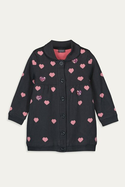 Girls' Dark Gray Jnl Cardigan 9W4055Z4 Click to enlarge