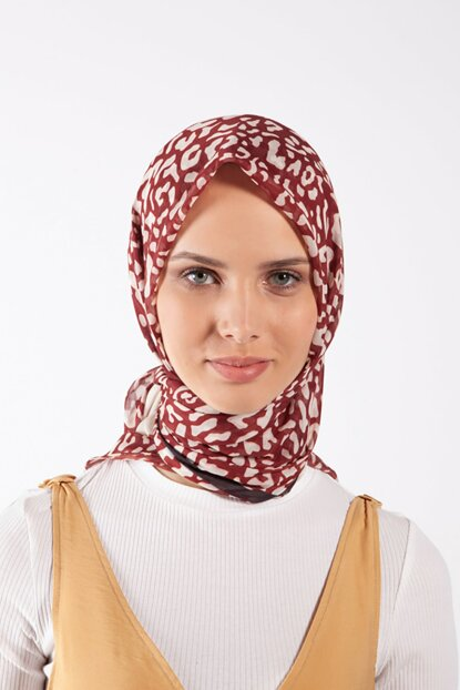 Women's Burgundy Pes Voile Scarf