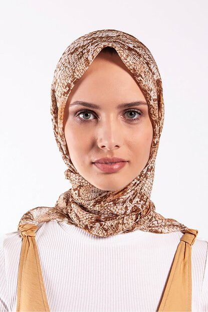Women's Toffee Pes Voile Scarf
