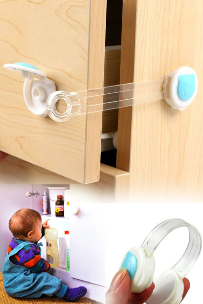 2 Drawers Baby Drawer Cabinet Protection Lock ABO.03085.00