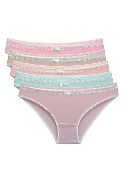 Women Mixcolor 5 Pack Panties 83015