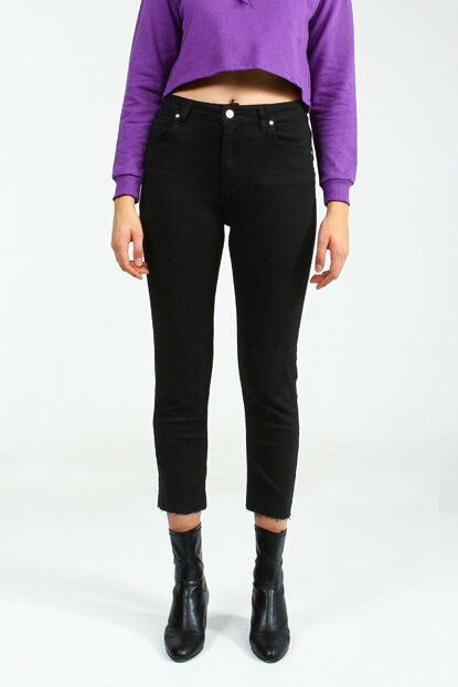 Women Black Trousers MEFİK UCB021687A41
