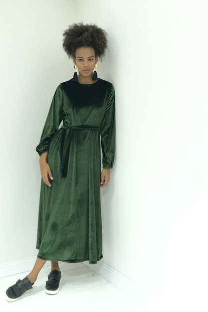 Women's Khaki green Dress 1554