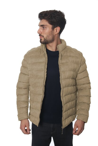 Men's Suede Coats with Frappole 2060 Beige / Beige 19W32002060