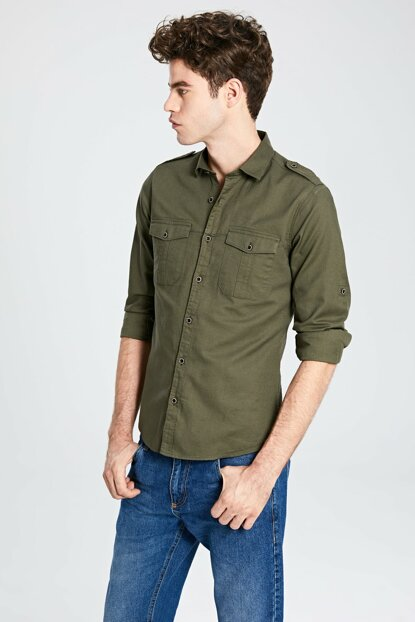 Men's Khaki Shirt 0S0019Z8