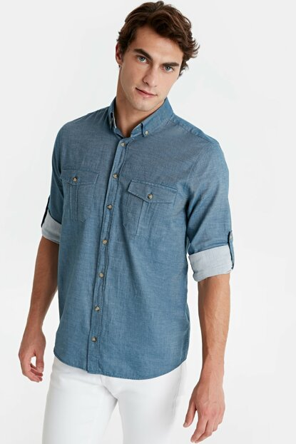 Men's Indigo Shirt 9W0456Z8