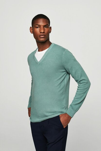 Men's Water Green Pullover 13077620