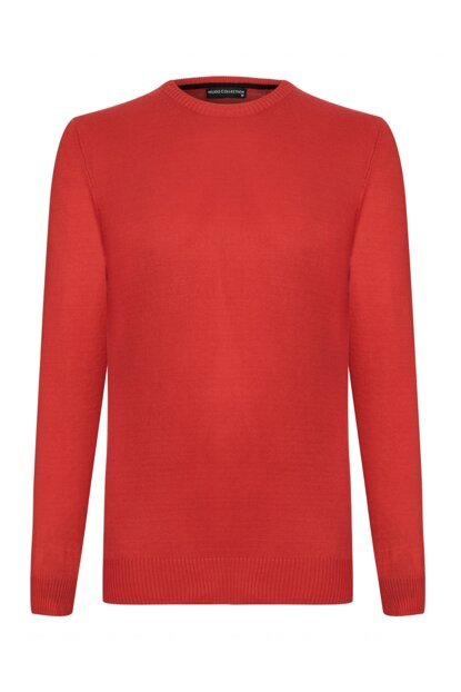 Men's Red Crew Neck Sweater 339608